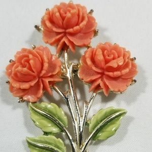 Vintage custom signed pin brooches cellulite